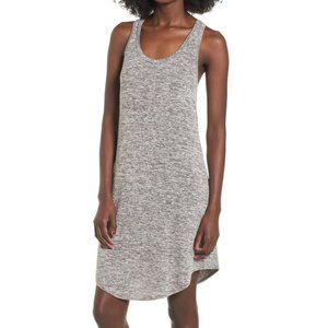 Leith Grey Cloudy Heather Knit Dress XS Lagenlook